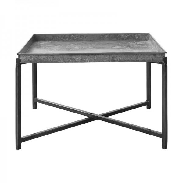 house doctor cool table basse carree style industriel metal acier brut pr0302. Black Bedroom Furniture Sets. Home Design Ideas