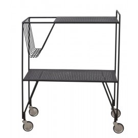 house doctor trolley use desserte retro metal noir chariot roulant Pj0100
