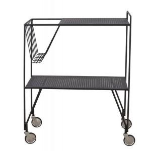 Desserte rétro métal noir chariot roulant house Doctor Trolley Use