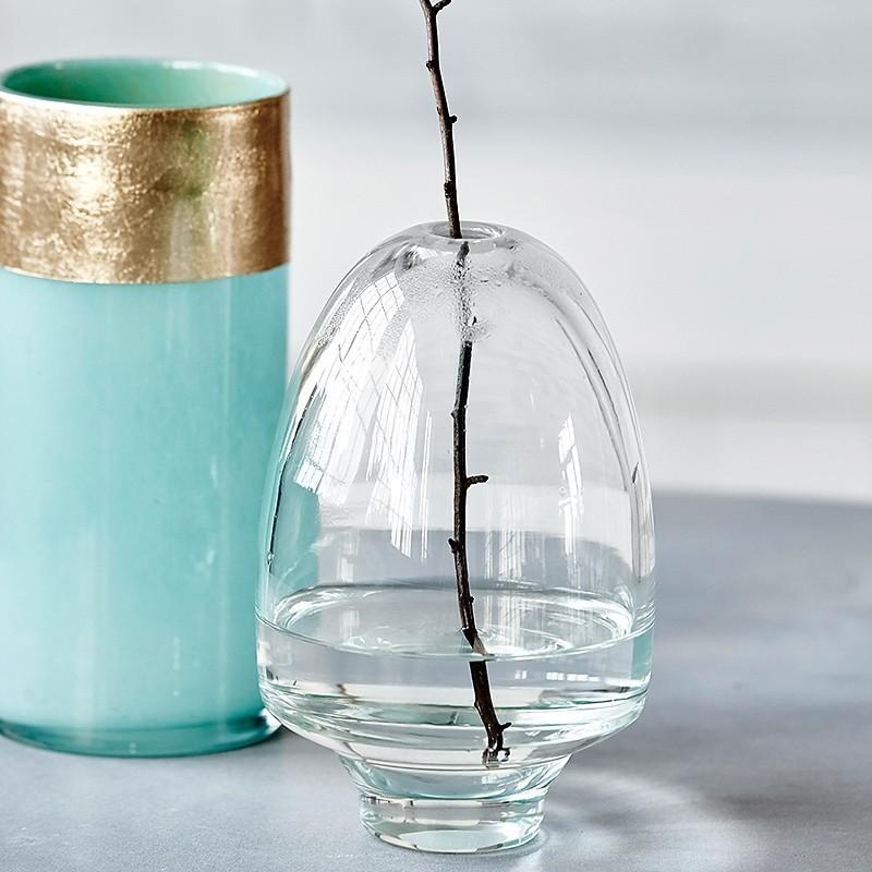 vase en verre avec bande doree house doctor lost ds0800 aqua. Black Bedroom Furniture Sets. Home Design Ideas