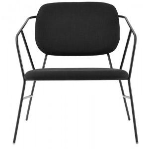 house doctor klever fauteuil lounge noir design epure metal Bf0300