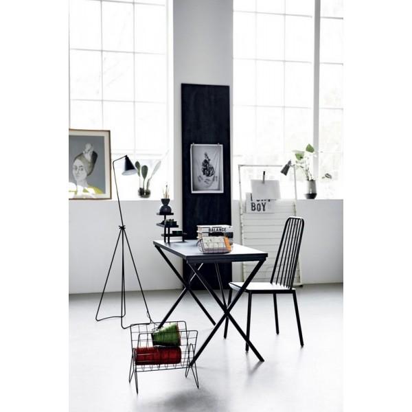 House doctor desk table de bureau design epure metal noir for Table de bureau design