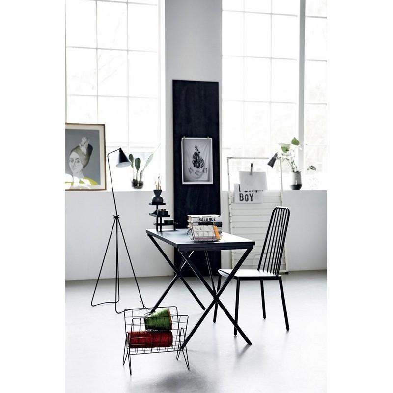 house doctor desk table de bureau design epure metal noir pj0300. Black Bedroom Furniture Sets. Home Design Ideas