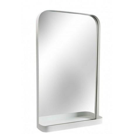 Miroir mural etagere metal blanc versa 10850060 for Miroir mural metal