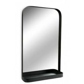 Miroir mural étagère métal noir Versa