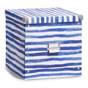 Boîte de rangement cubique carton déco bord de mer Zeller