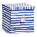 boite de rangement cubique carton deco bord de mer zeller 17574