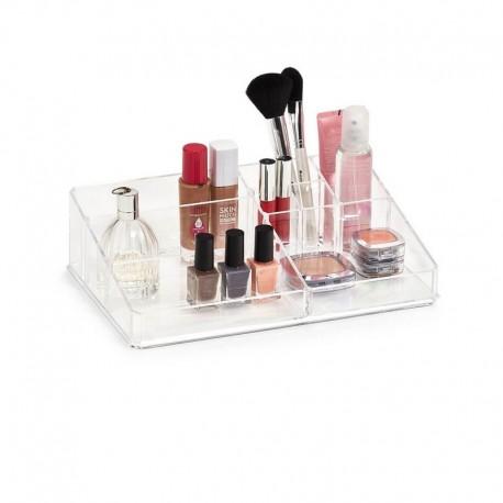 organiseur cosmetiques maquillage acryllique transparent zeller 14713