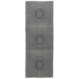 Tapis de couloir long gris motif rosace IB Laursen Rosette 180 x 80 cm