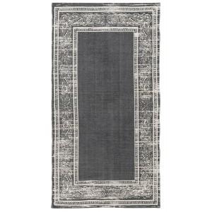 tapis vintage use coton gris ib laursen 70 x 140 cm