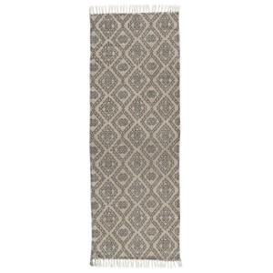 tapis de couloir long gris beige motif classique ib laursen 60 x 180 cm