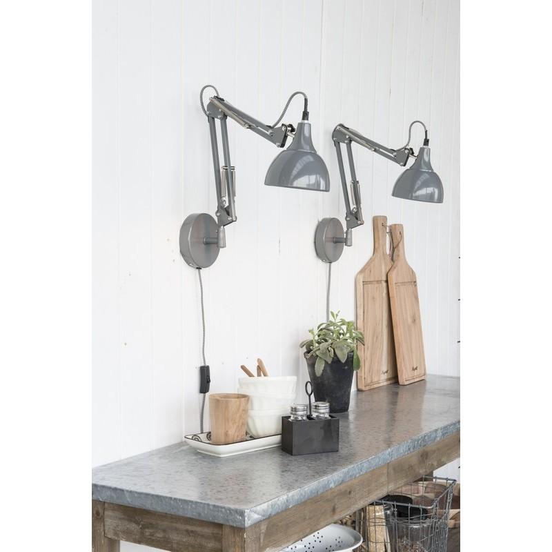 ib laursen architect model applique murale bras articule grise 2845 18. Black Bedroom Furniture Sets. Home Design Ideas