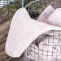 boutis de lit coton matelasse rose clair fleurs petites blanches ib laursen 0742-00