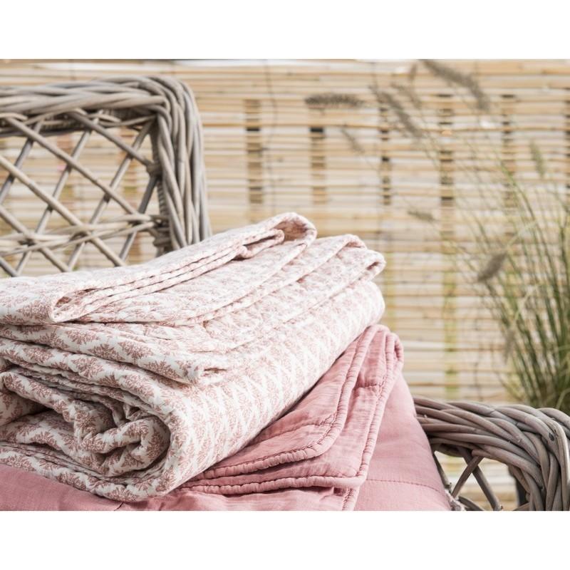 Ib laursen couverture couvre lit coton matelasse sorbet 0752 28 for Couverture lit design
