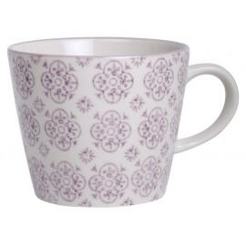 Tasse à café grès fleurs mauves Casablanca IB Laursen
