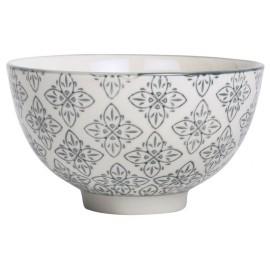 Coupelle motif floral oriental gris zinc Casablanca IB Laursen