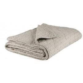 IB Laursen Decke beige Muster grau 180x130cm Tagesdecke Überwurf Quilt Steppdecke