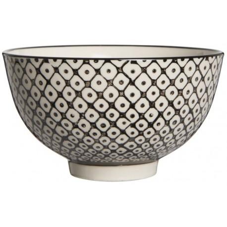 Coupelle grès motif géométrique noir et blanc IB Laursen Casablanca