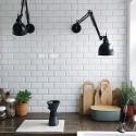 applique murale industrielle bras articulé metal noir frandsen job 41486501101