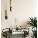 frandsen freja suspension design metal cuivre et verre fume