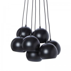 suspension grappe 7 boules metal noir mat frandsen multi ball