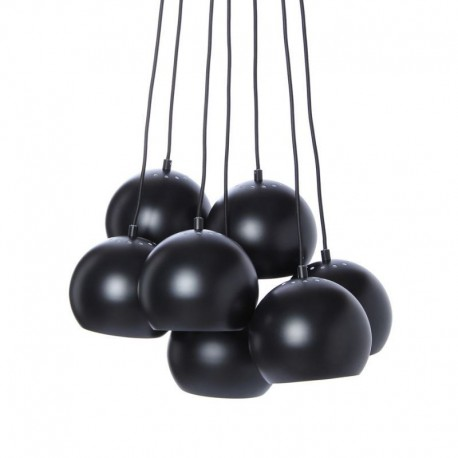 suspension grappe 7 boules metal noir mat frandsen multi ball