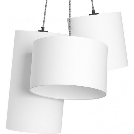 lustre suspension multiple 3 lampes blanches textile it s about romi oslo. Black Bedroom Furniture Sets. Home Design Ideas