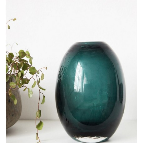 vase house doctor ball bleu vert Ds0541
