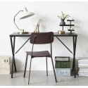 house doctor desk table de bureau design epure metal noir Pj0300