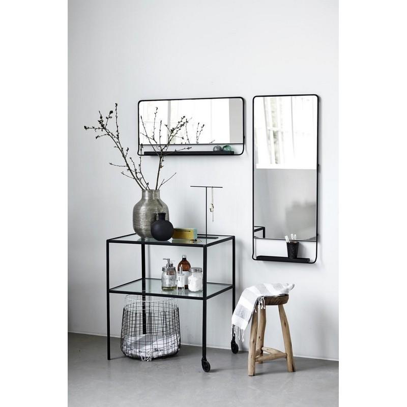 desserte metal verre design vintage epure minimaliste. Black Bedroom Furniture Sets. Home Design Ideas
