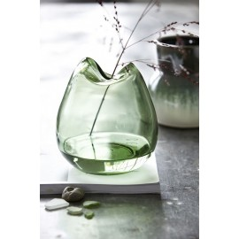 vase house doctor wave verre vert Be0910