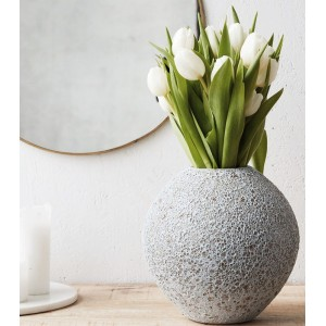 vase rond gris clair faience house doctor less Dp0480