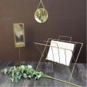 Porte-revues rétro métal laiton antique Madame Stoltz