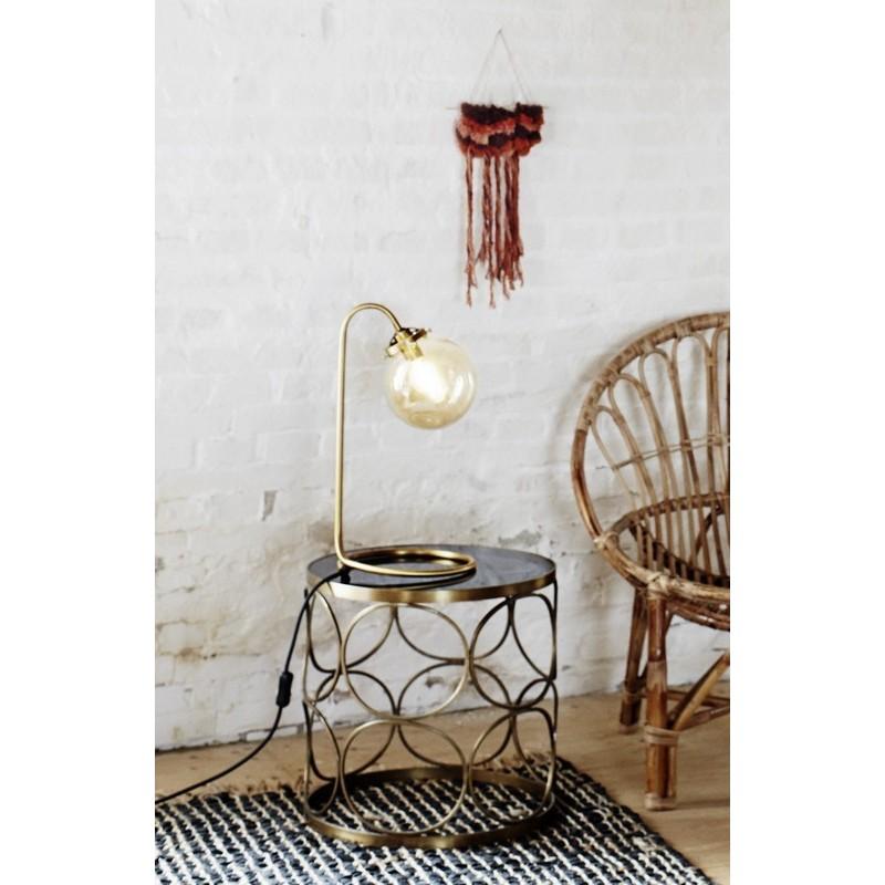 table basse ronde metal laiton annees 30 style art deco madame stoltz h015bg. Black Bedroom Furniture Sets. Home Design Ideas