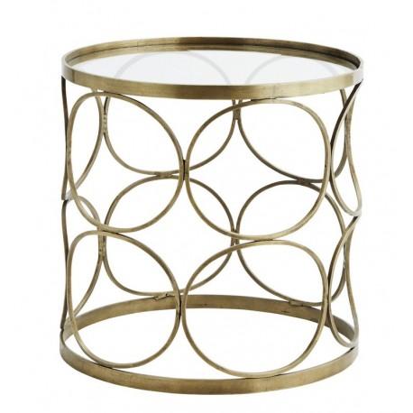 table basse ronde laiton antique art deco annees 30 madame stoltz H015CG