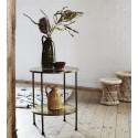 table d appoint bout de canape retro vintage metal dore laiton madame stoltz I013