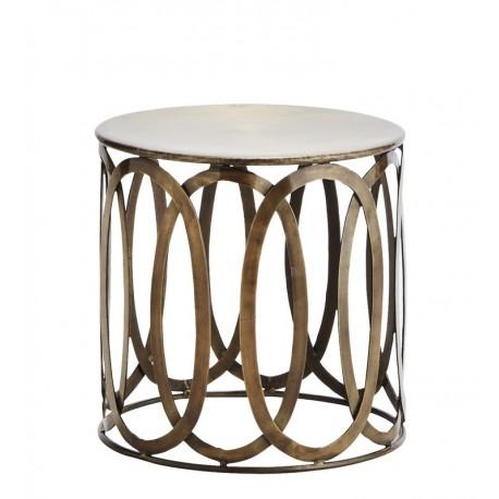 table basse ronde retro metal laiton vintage madame stoltz i032. Black Bedroom Furniture Sets. Home Design Ideas