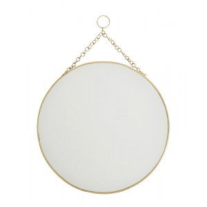 Miroir rond laiton vintage à suspendre Madam Stoltz
