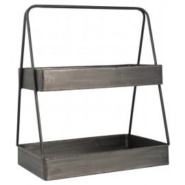 Etagère à poser sur plan de travail 2 niveaux métal vintage IB Laursen