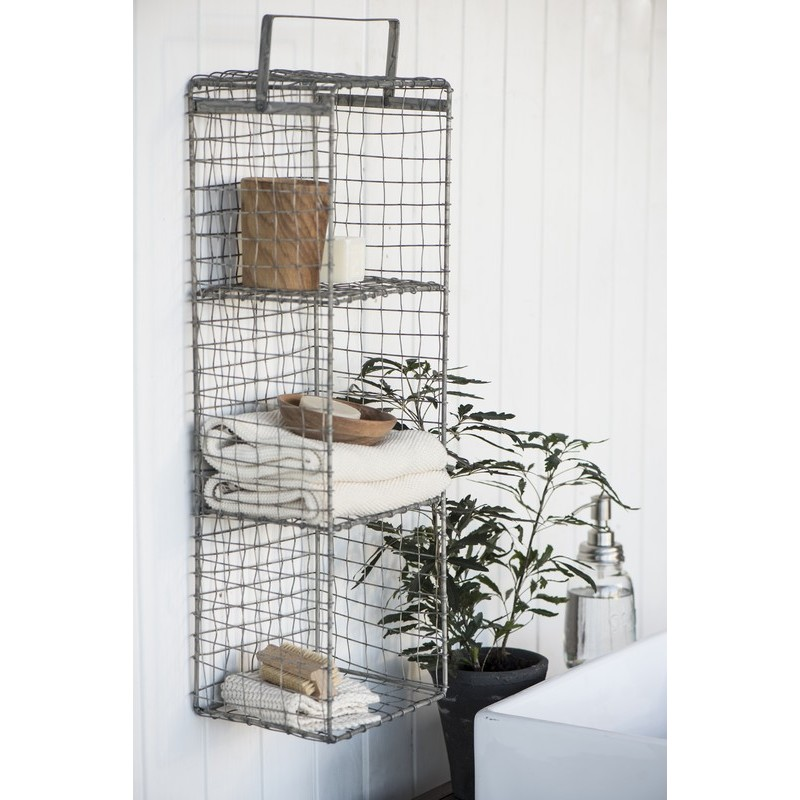 etagere a poser grillage rigide vintage 3 casiers ib laursen 5846 18. Black Bedroom Furniture Sets. Home Design Ideas