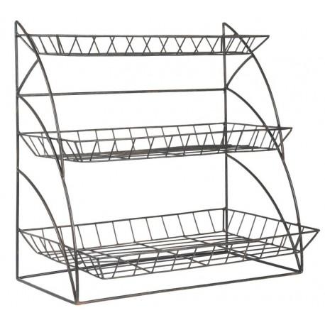 etagere a poser rangement cuisine metal grillage deco campagne chic ib laursen 7221-25
