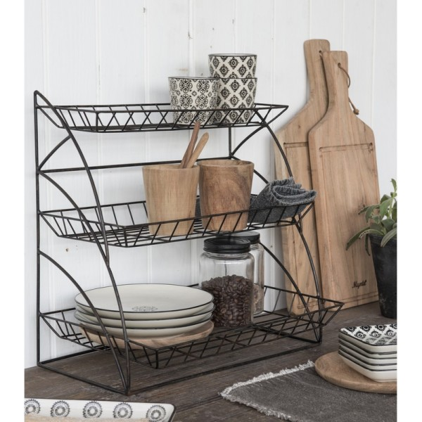 etagre poser rangement cuisine mtal grillage dco campagne chic ib laursen with etagere cuisine metal. Black Bedroom Furniture Sets. Home Design Ideas