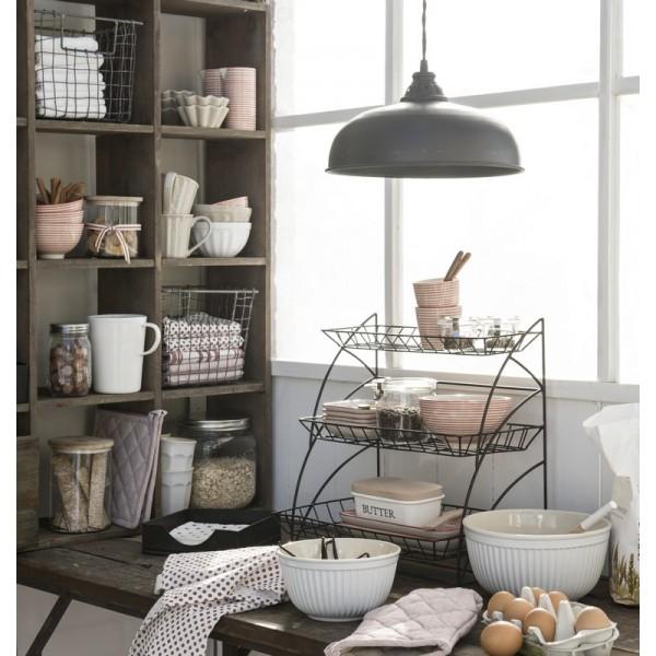 etagere a poser rangement cuisine metal grillage deco campagne chic ib laursen 7221 25. Black Bedroom Furniture Sets. Home Design Ideas