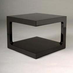 Table basse carrée laquée noire design KARRE