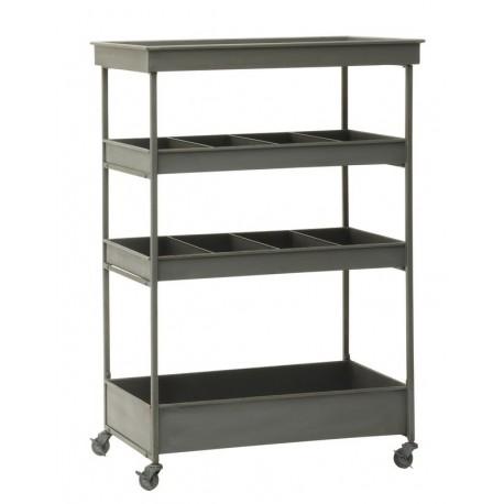 desserte industrielle rangement cuisine metal gris 4 niveaux ib laursen 7214 18. Black Bedroom Furniture Sets. Home Design Ideas