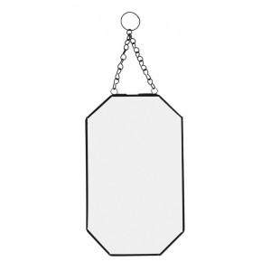 miroir vintage metal noir a suspendre vertical madam stoltz IB-150326B