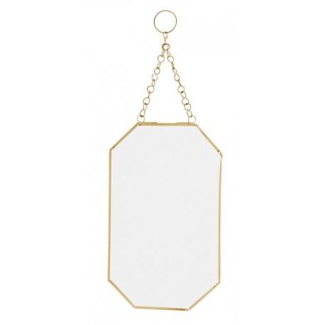 miroir mural dore rectangulaire a suspendre sur chaine madam stoltz IB-150326G
