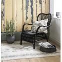 Tapis moelleux blanc crème motif noir IB Laursen 120 x 180 cm