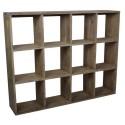 etagere murale bois vieilli campagne chic 12 compartiments ib laursen 2225-14