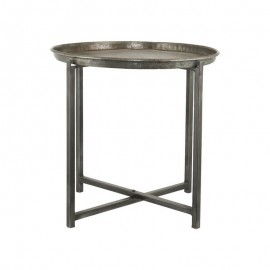 Table basse ronde acier brut style industriel House Doctor Cool D 56 cm